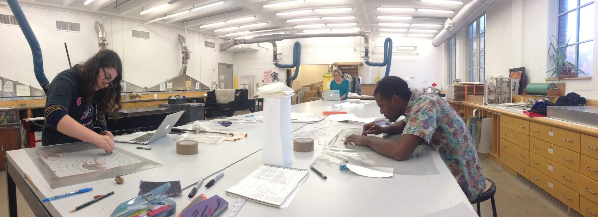 Printmaking at Drew